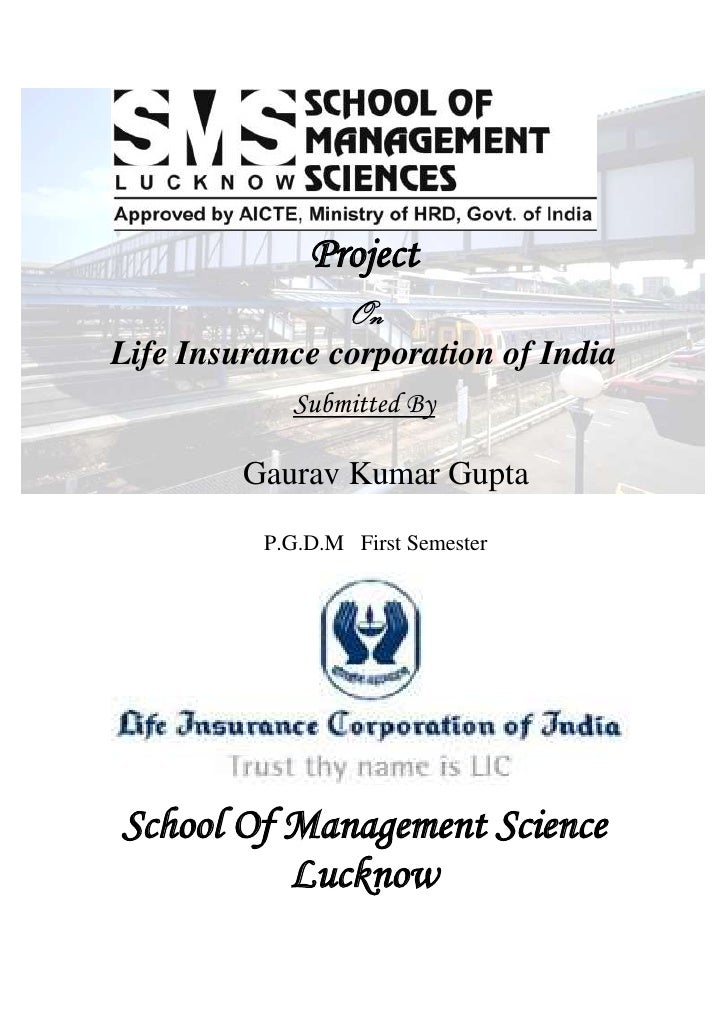 -9144000<br />Project<br />On<br />Life Insurance corporation of India<br />Submitted By<br />Gaurav Kumar Gupta<br />    ...
