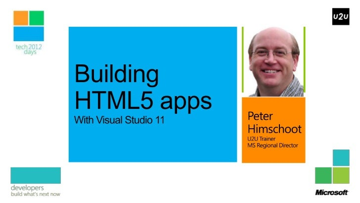 Building HTML5 enabled web applications with Visual Studio 2011