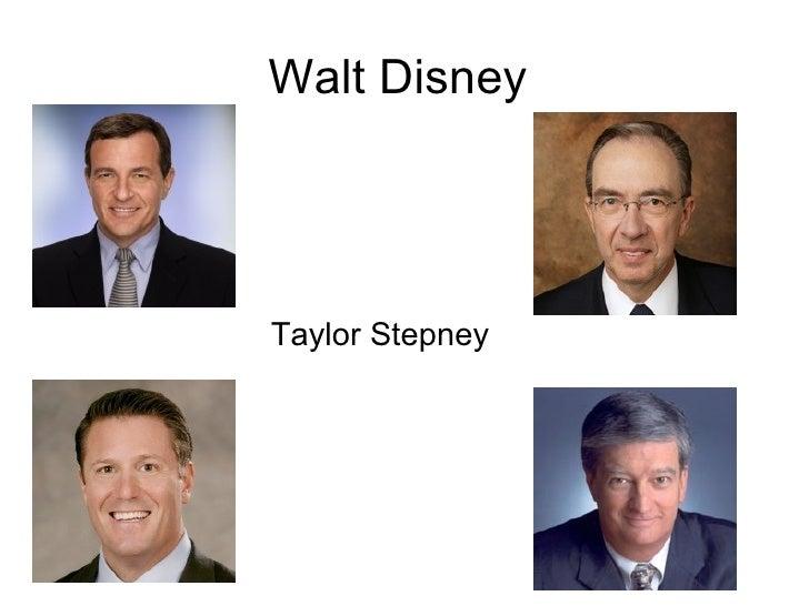 Walt Disney  Taylor Stepney