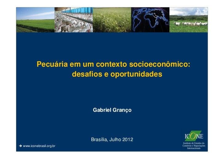Pecuária em um contexto socioeconômico:                   desafios e oportunidades                         Gabriel Granço ...