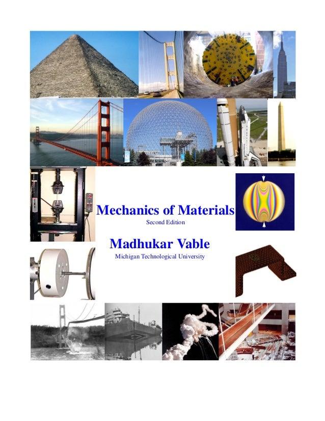 Mechanics of Materials Second Edition Madhukar Vable Michigan Technological University