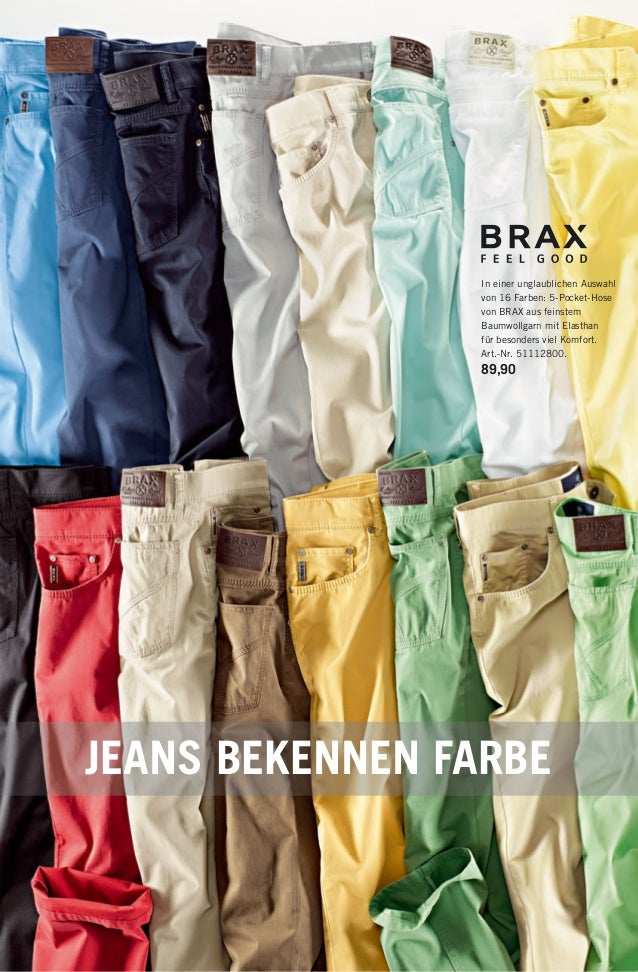 In einer unglaublichen Auswahl von 16 Farben: 5-Pocket-Hose von BRAX aus feinstem Baumwollgarn mit Elasthan für besonders ...
