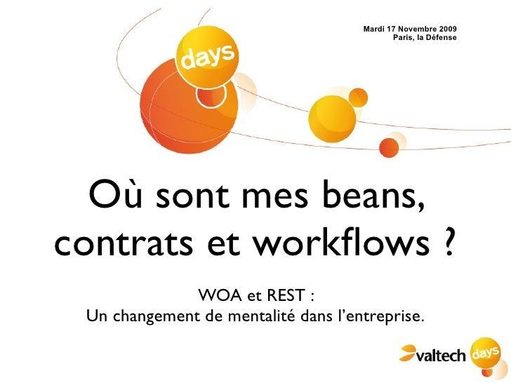 Ou sont mes beans, contrats et workflows ? WOA et REST: Un changement de mentalité dans l'entreprise.