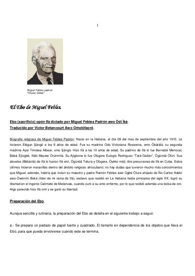 "1 Miguel Febles padron ""Oluwo Odika"" El Ebo de Miguel Febles.El Ebo de Miguel Febles.El Ebo de Miguel Febles.El Ebo de Mig..."