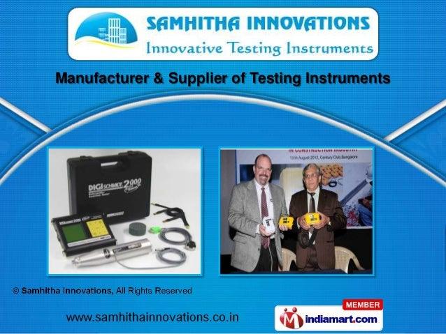 Manufacturer & Supplier of Testing Instruments