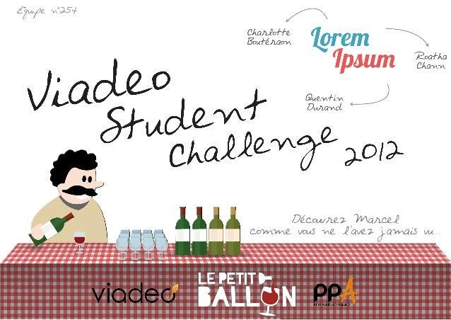 Dossier Viadeo Student Challenge 2013 par Lorem Ipsum