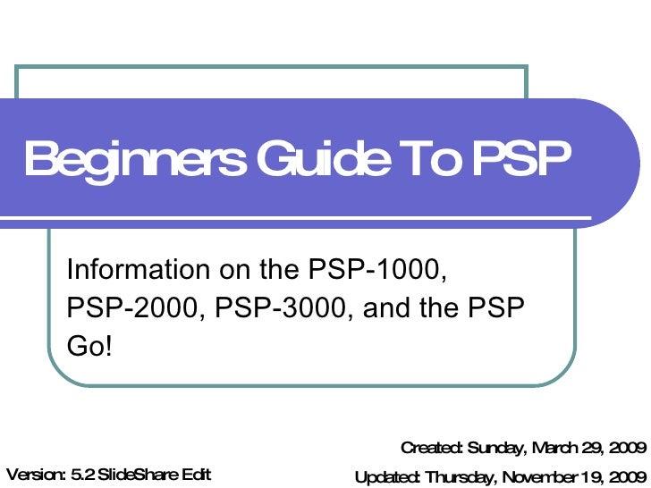 Beginner's Guide To PSP v5.2 SlideShare Edit