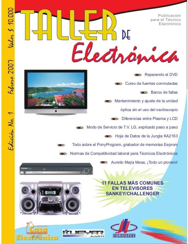 Reparando el DVD Curso de fuentes conmutadas Banco de fallas Mantenimiento y ajuste de la unidad óptica sin el uso del osc...
