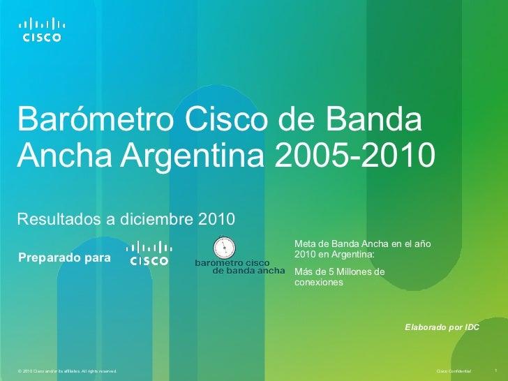 Barómetro Cisco de BandaAncha Argentina 2005-2010Resultados a diciembre 2010                                              ...