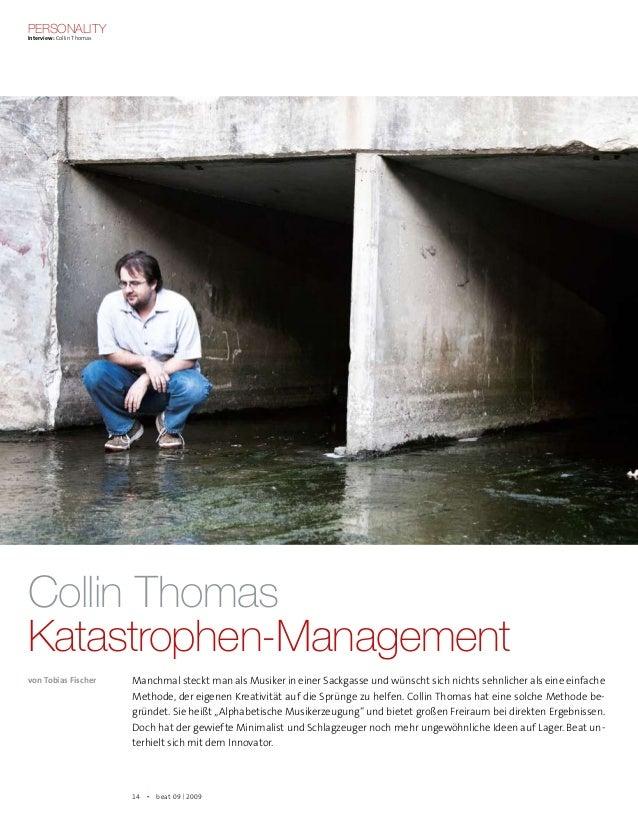 Personality Interview: Collin Thomas 14  beat 09 | 2009 Collin Thomas Katastrophen-Management von Tobias Fischer Manchma...