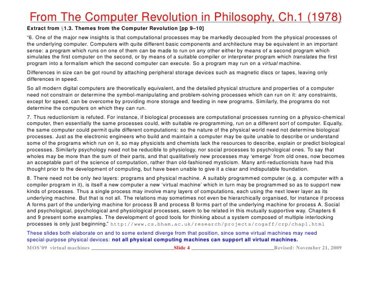Cause and effect of computer revolution