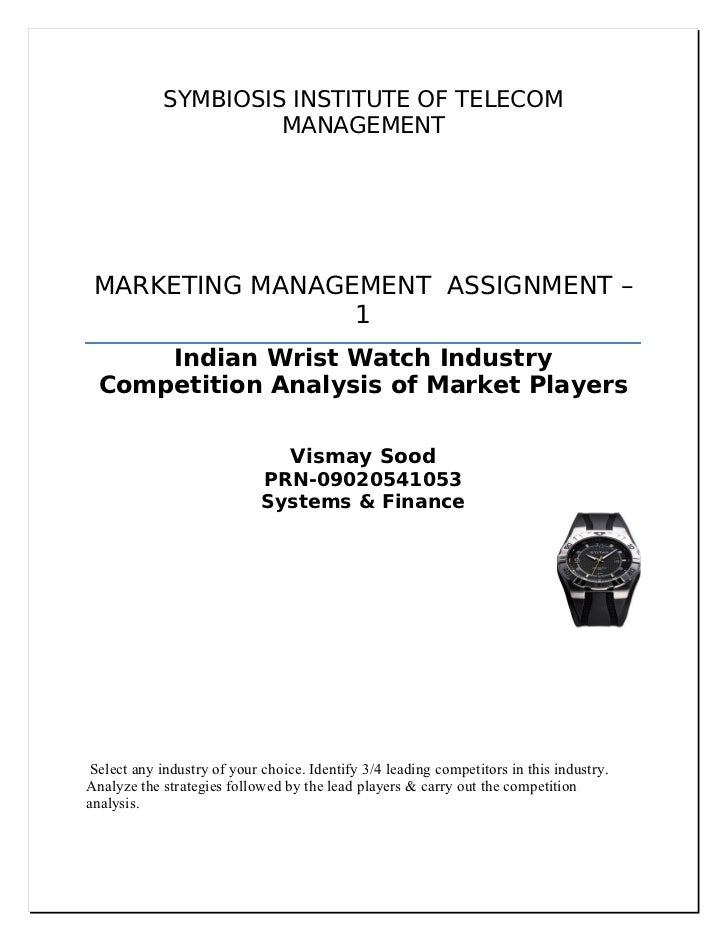 25596854 indian-wrist-watch-industry-competition-analysis-of-market-leaders