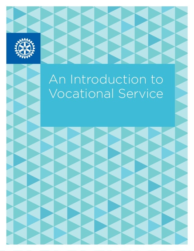 An Introduction to Vocational Service