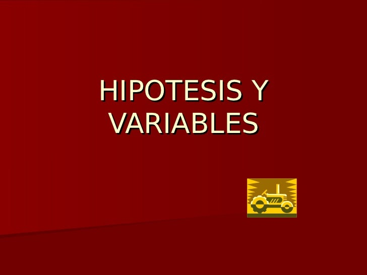 HIPOTESIS YVARIABLES
