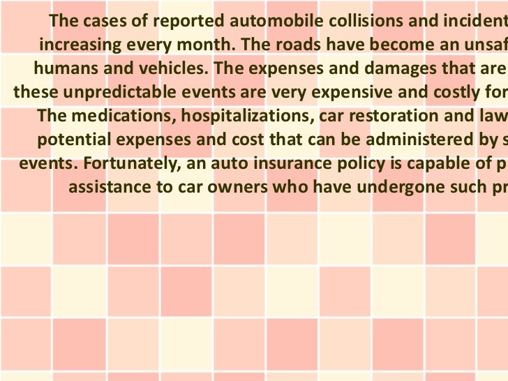 The cases of reported automobile collisions and incident   increasing every month. The roads have become an unsaf  humans ...