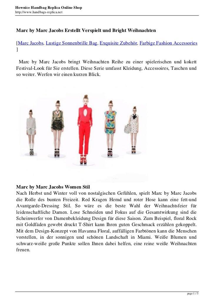Hownice Handbag Replica Online Shophttp://www.handbags-replica.netMarc by Marc Jacobs Erstellt Verspielt und Bright Weihna...