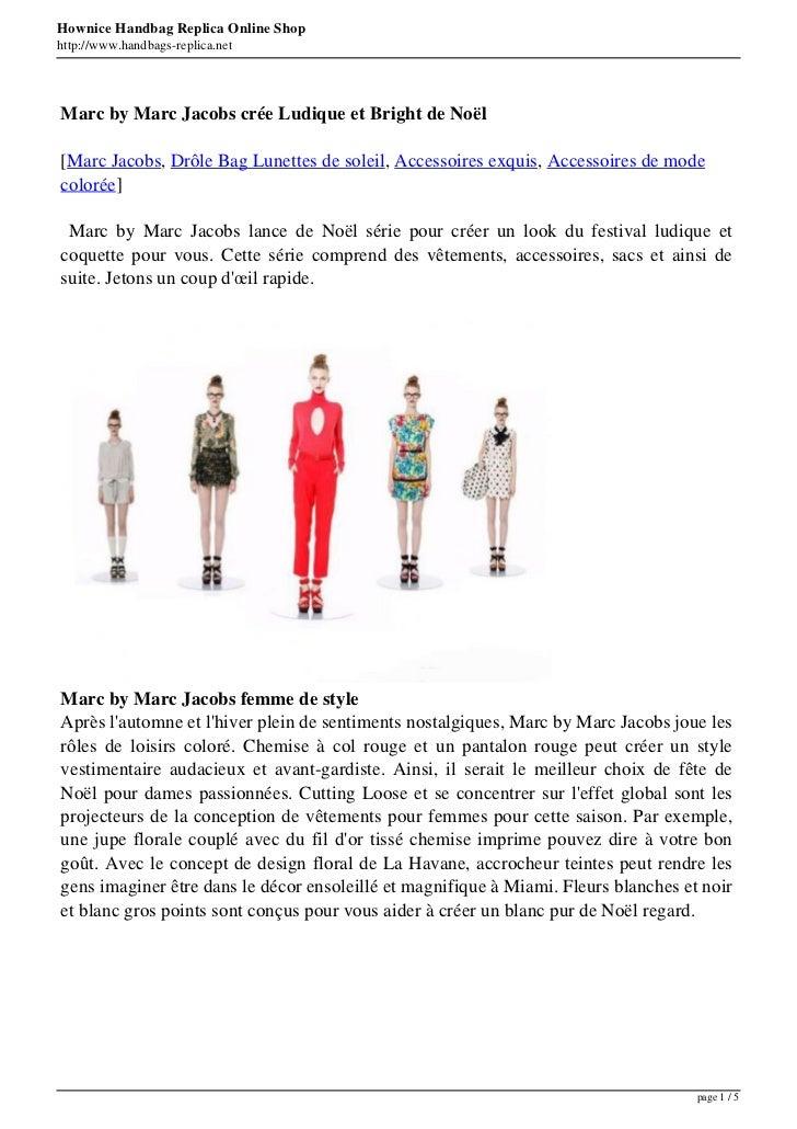 Hownice Handbag Replica Online Shophttp://www.handbags-replica.netMarc by Marc Jacobs crée Ludique et Bright de Noël[Marc ...