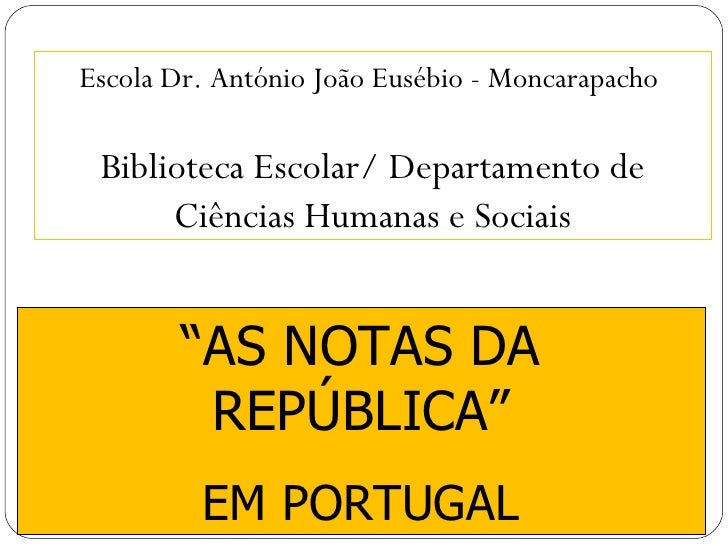 25937649 As Notas Da Republica