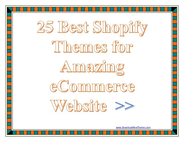 25 best shopify templates for amazing ecommerce website for Free shopify templates