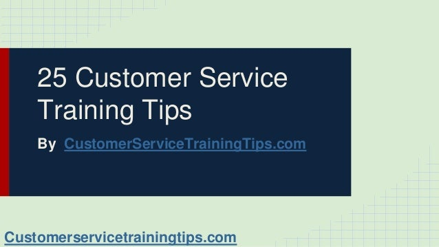 customer service training presentation