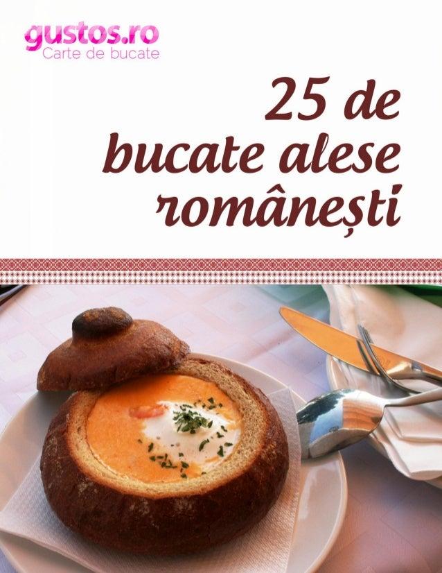 CUPRINS Incursiune in bucataria romaneasca ..................................................................................