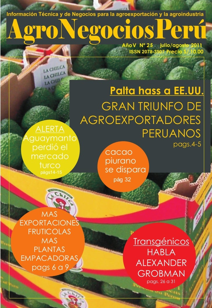 5   julio/agosto   1                   GRAN TRIUNFO DE                AGROEXPORTADORES                         PERUANOS   ...