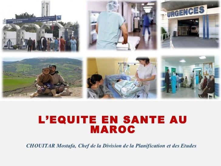 L'équité en santé au Maroc