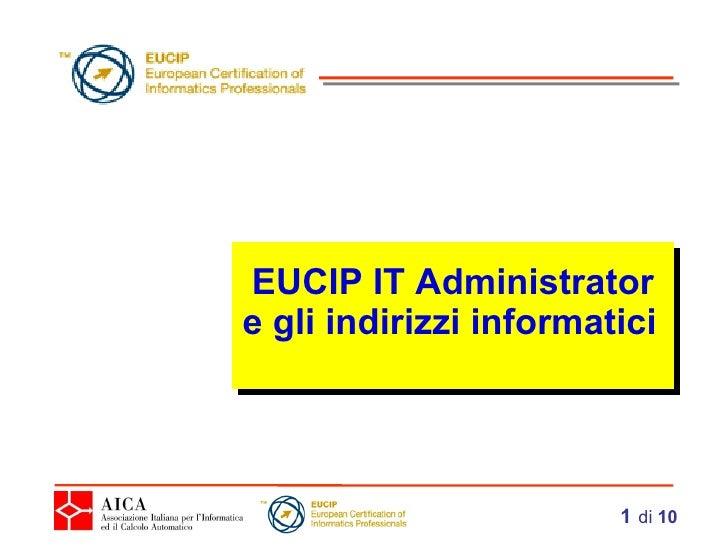 EUCIP IT Administrator e gli indirizzi informatici