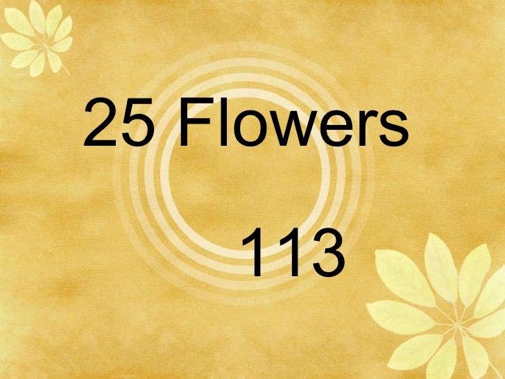 25 Flowers 113