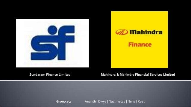 Financial statement analysis Mahindra finance vs SF