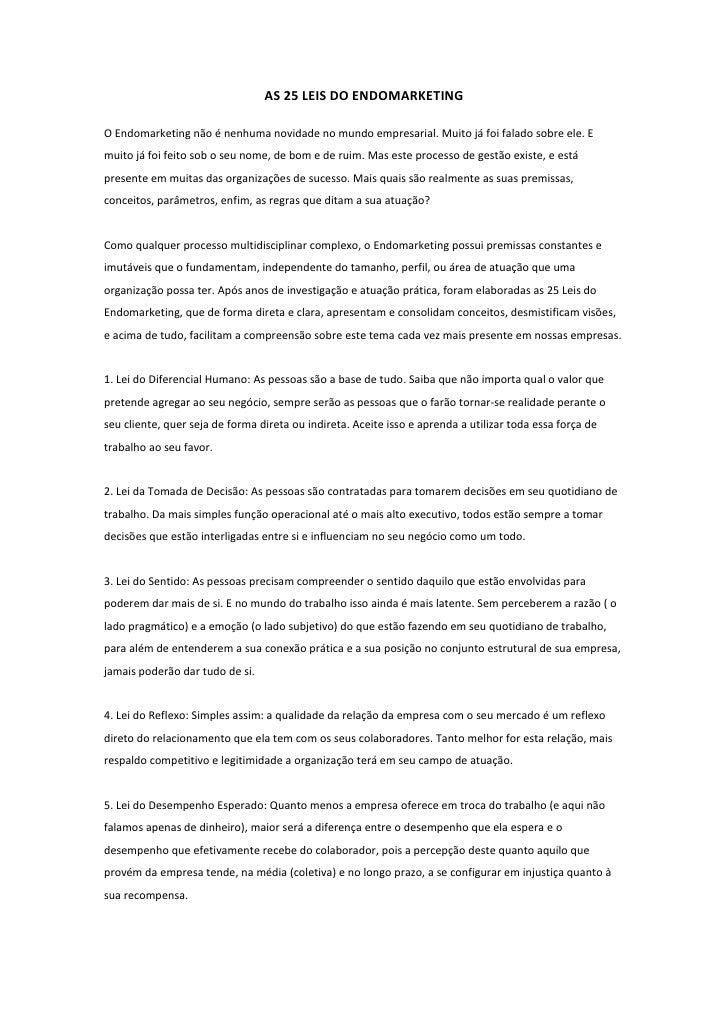 25 leis Endomarketing