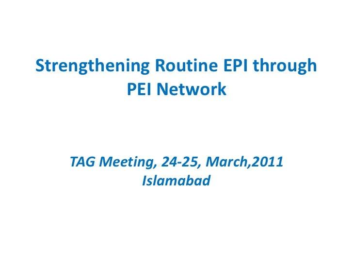 Strengthening routine EPI through PEI network