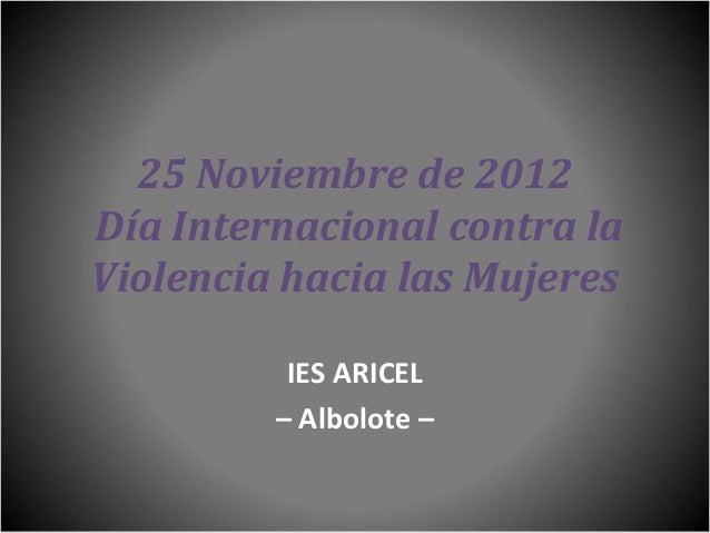 25N 2012 - IES Aricel