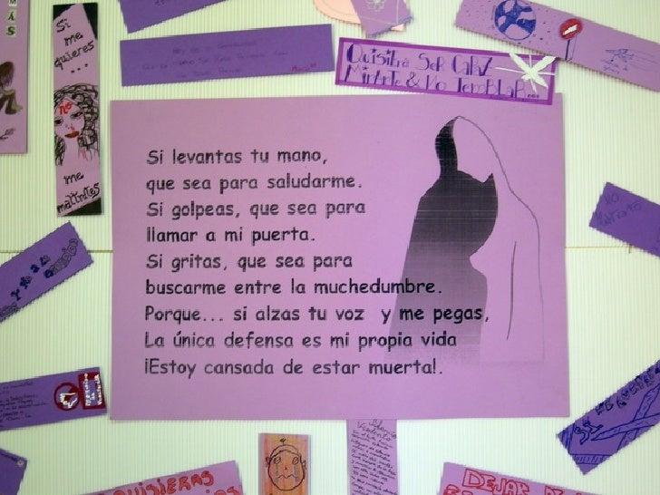Contra la violencia hacia las mujeres