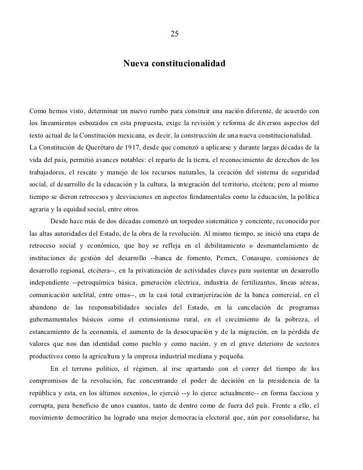 25                                  Nueva constitucionalidadComo hemos visto, determinar un nuevo rumbo para construir una...
