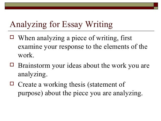 structure of personal response essay