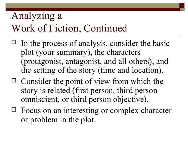 Writing an essay on Fiction?