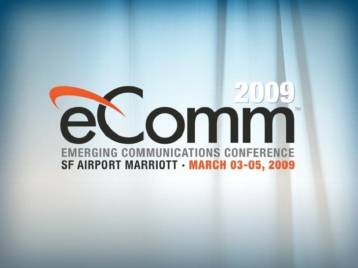 Shai Berger's Presentation at eComm 2009