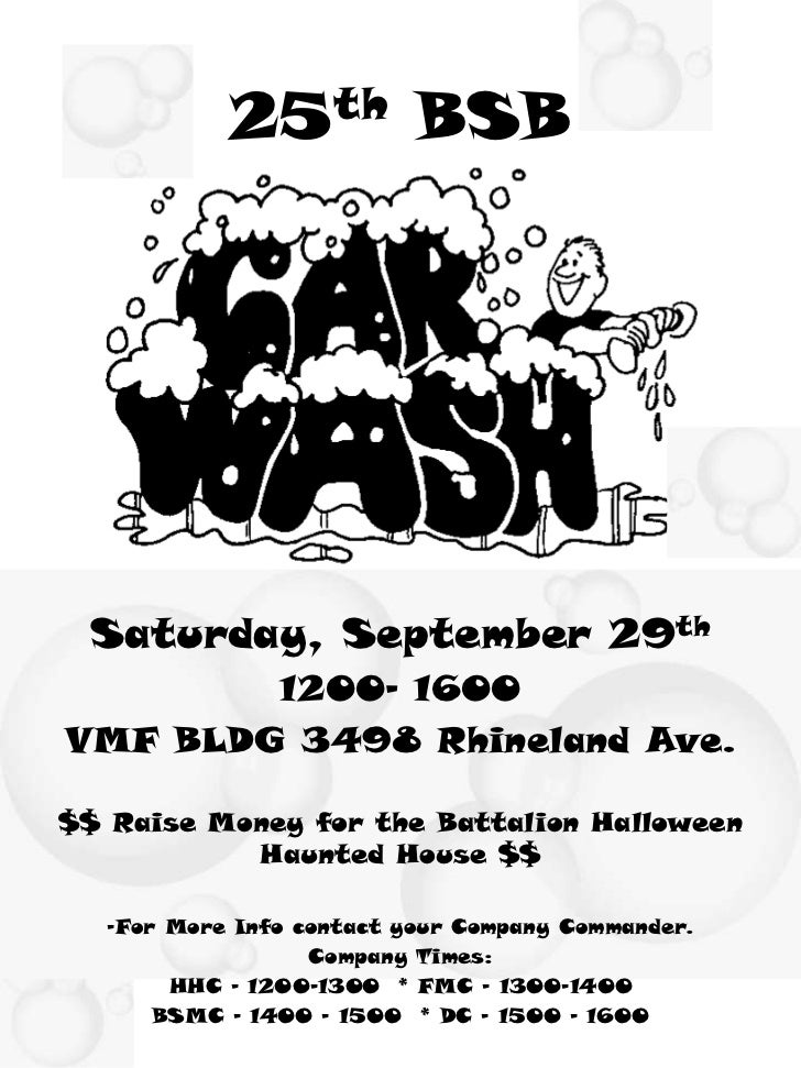 25th BSB Saturday, September 29th        1200- 1600VMF BLDG 3498 Rhineland Ave.$$ Raise Money for the Battalion Halloween ...