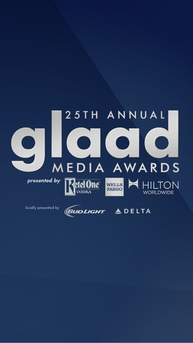 25th Annual GLAAD Media Awards Tribute Book - Los Angeles