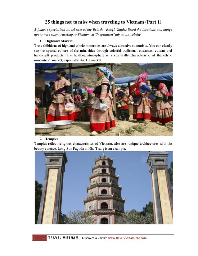 25 things not to miss when traveling to Vietnam (Part 1) A famous specialized travel sites of the British - Rough Guides l...