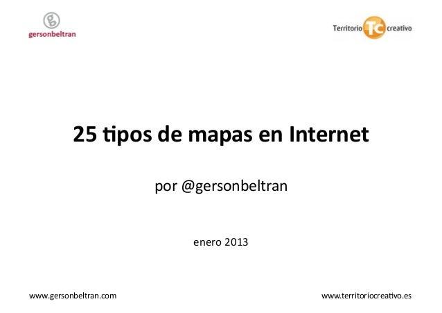 25 tipos de mapas en internet