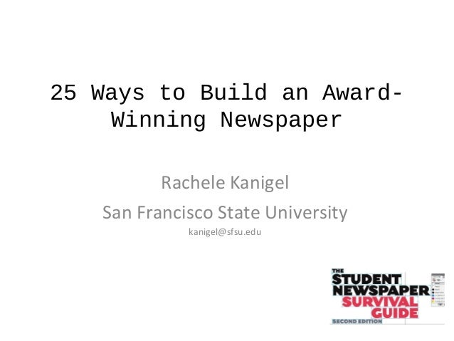 25 Ways to Build an Award-Winning High School Newspaper