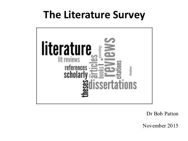 Literature surveys