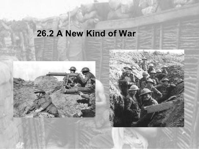 26.2 A New Kind of War