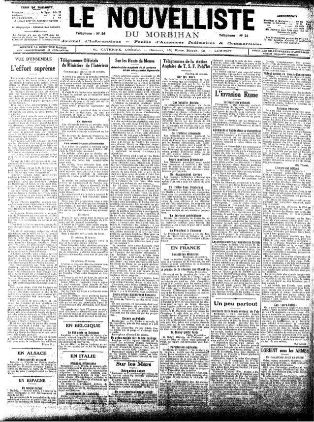 Le Nouvelliste du Morbihan - du 26 au 30-octobre 1914