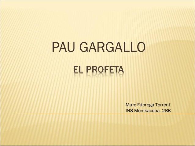 PAU GARGALLOMarc Fàbrega TorrentINS Montsacopa. 2BB
