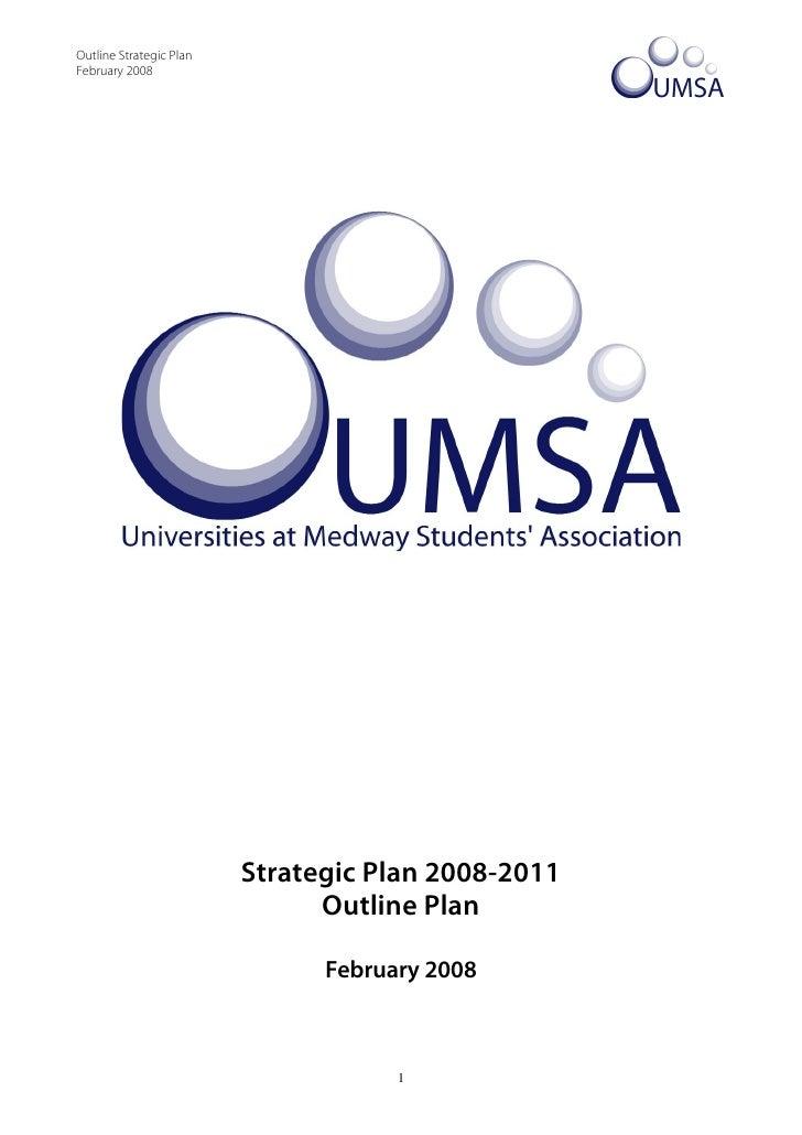 26. Outline Strategic Plan   Feb 08