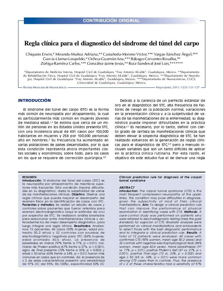 CONTRIBUCIÓN ORIGINALRev Mex Neuroci 2011; 12(3): 121-127                                                                 ...