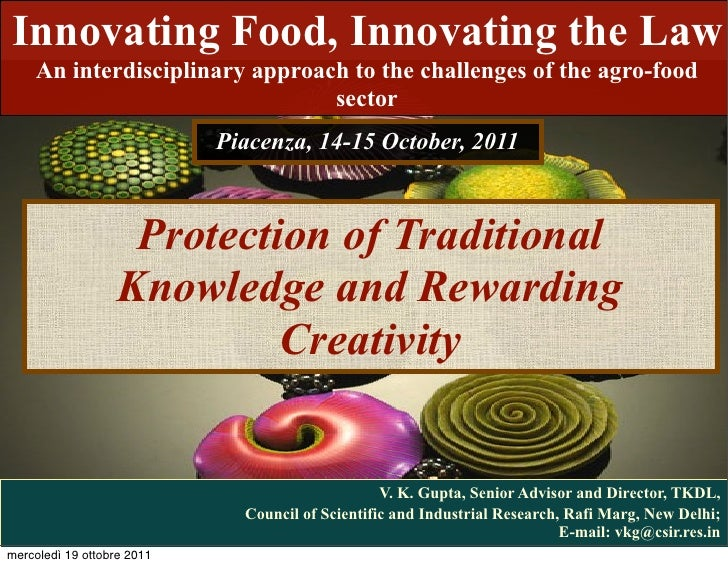 Innovating Food, Innovating the Law    An interdisciplinary approach to the challenges of the agro-food                   ...